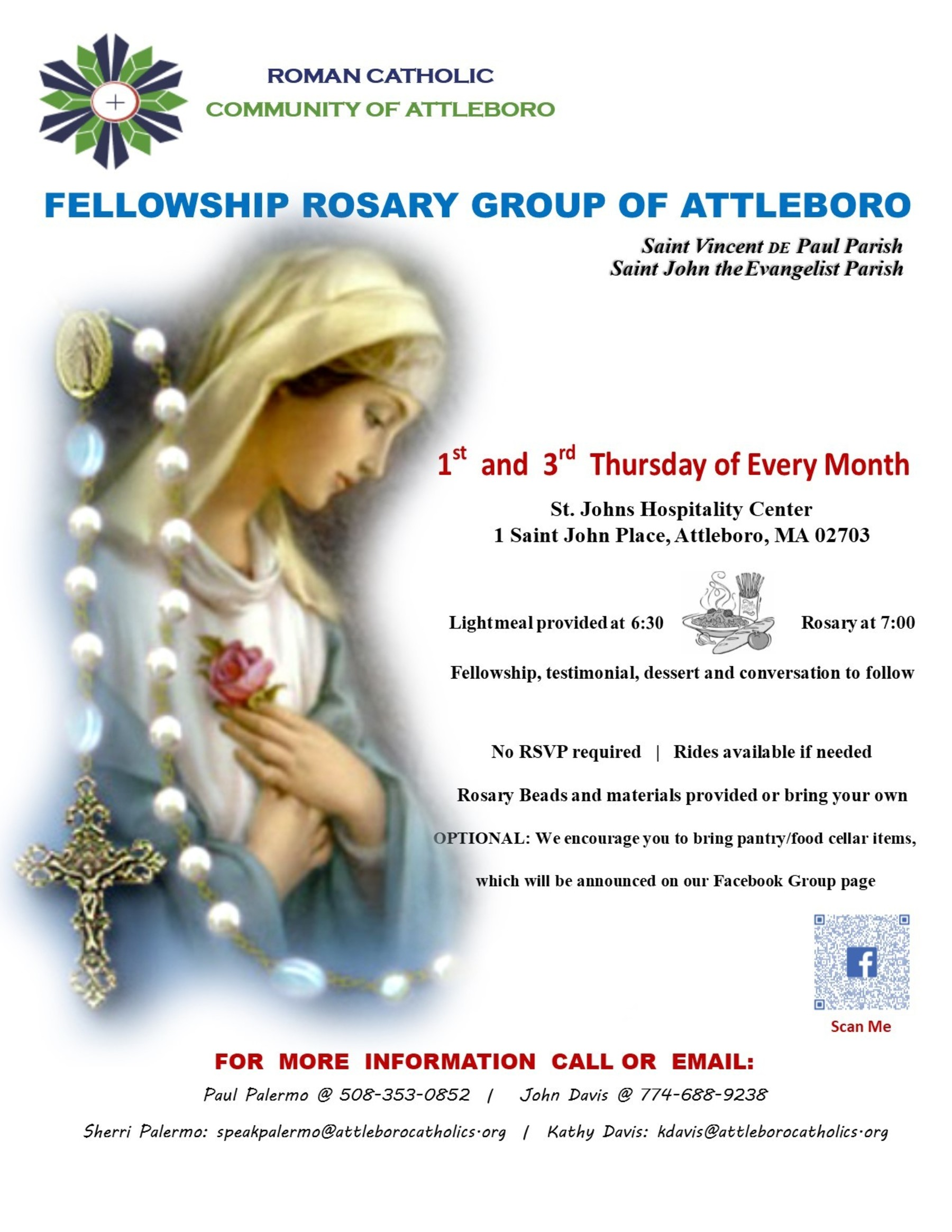 Fellowship Rosary Flyer 82019