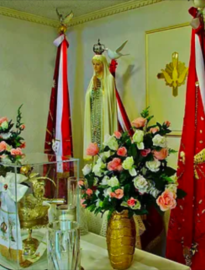 The Shrine of Our Lady of Fatima, in which are kept the Holy Ghost Crown and Banners.